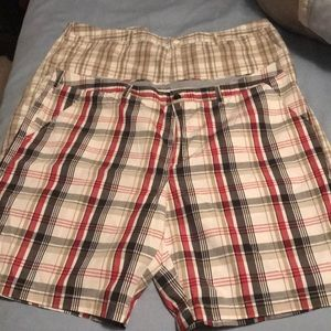 2 plaid shorts for one price